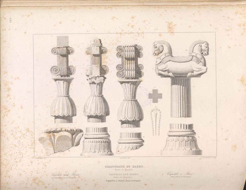 Ruins Of Persepolis Iran Columns Capitals And Bases Picryl Public Domain Image