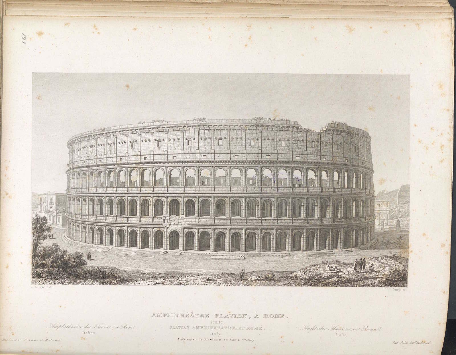 The Flavian Amphitheater, Rome, Italy