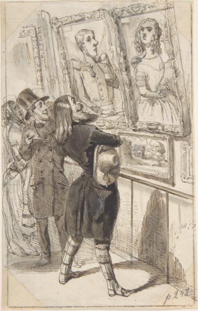 Illustration for Jérôme Paturot à la recherche d'une position sociale (Jérôme Patruot in Search of a Social Position), by Louis Reybaud, Paris, 1846