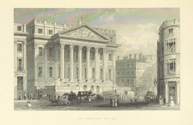 """London from """"Illustrated London, or, a series of views in the British metropolis and its vicinity, engraved by Albert Henry Payne, from original drawings. The historical, topographical and miscellaneous notices, by W. I. Bicknell"""""""