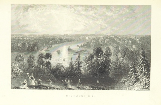 """Richmond from """"Illustrated London, or, a series of views in the British metropolis and its vicinity, engraved by Albert Henry Payne, from original drawings. The historical, topographical and miscellaneous notices, by W. I. Bicknell"""""""