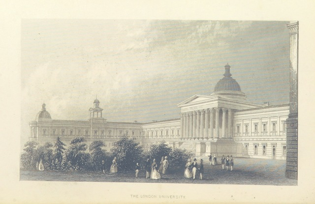 """UCL from """"Illustrated London, or, a series of views in the British metropolis and its vicinity, engraved by Albert Henry Payne, from original drawings. The historical, topographical and miscellaneous notices, by W. I. Bicknell"""""""