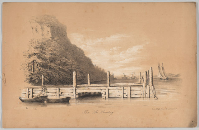 Fort Lee Landing, in: The New York Drawing Book, Containing a Series of Original Designs and Sketches of American Scenery, No. 2