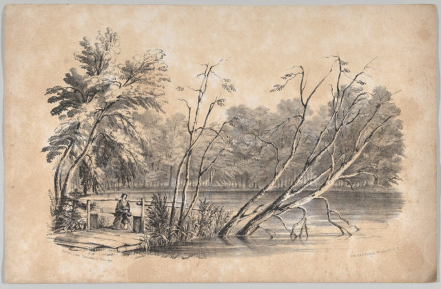 Sylvan Lake, Greenwood Cemetery, in: The New York Drawing Book, Containing a Series of Original Designs and Sketches of American Scenery, No. 2