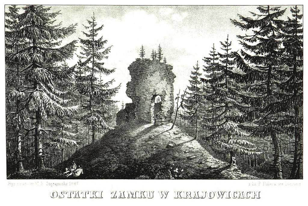 JABLONSKI(1847) p169 - OSTAKI ZAMKU W KRAJOWICACH
