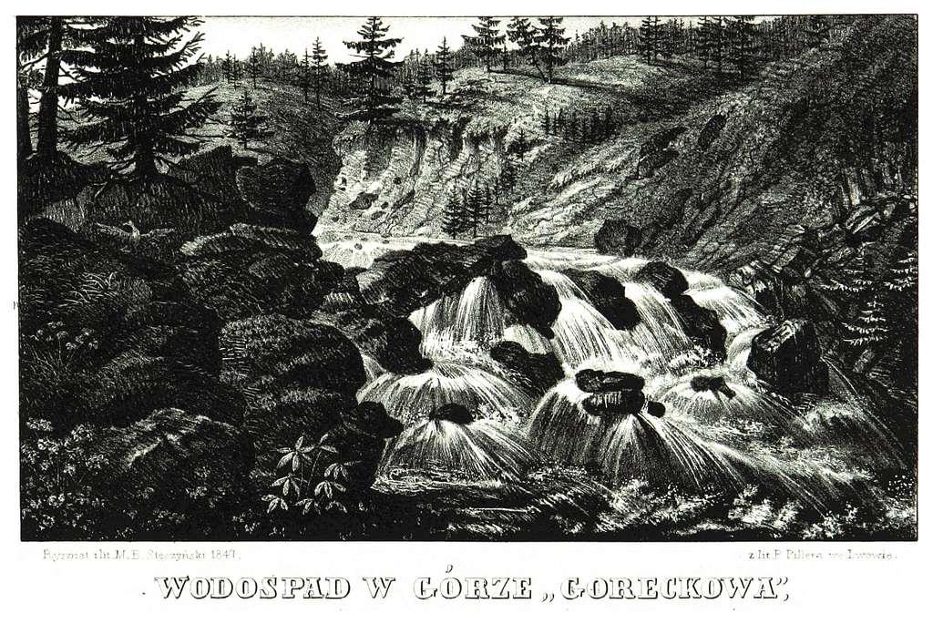 JABLONSKI(1847) p185 - WODOSPAD W GORZE GORECKOWA