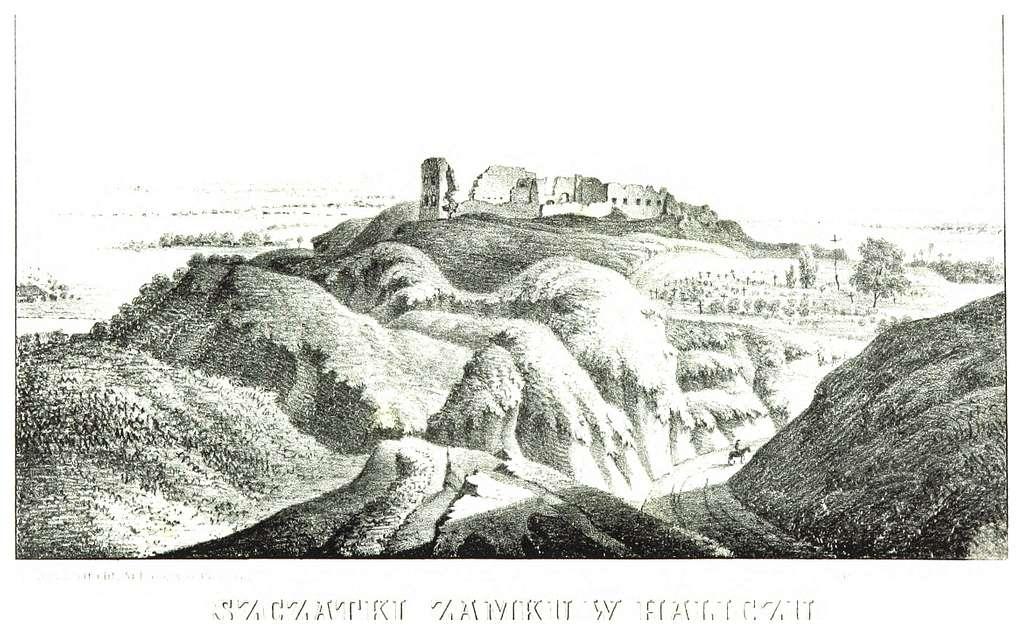 JABLONSKI(1847) p240 - SZCZATKI ZAMKU W HALICZU