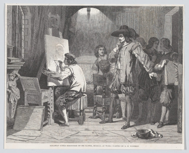 "Sebastian Gomez Discovered by His Master Murillo, At Work (from the ""Illustrated London News"")"