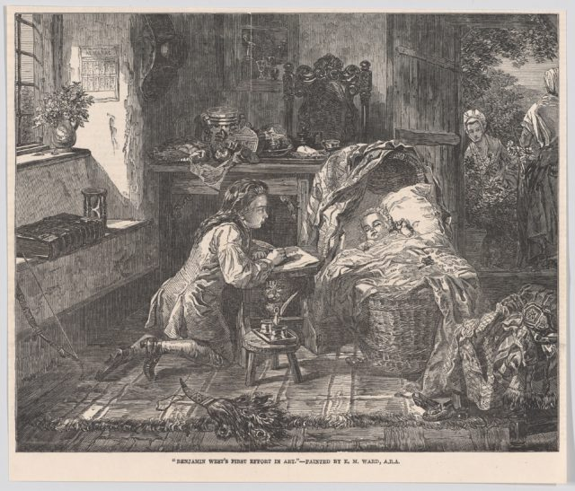 "Benjamin West's First Effort in Art, from the ""Illustrated London News"""