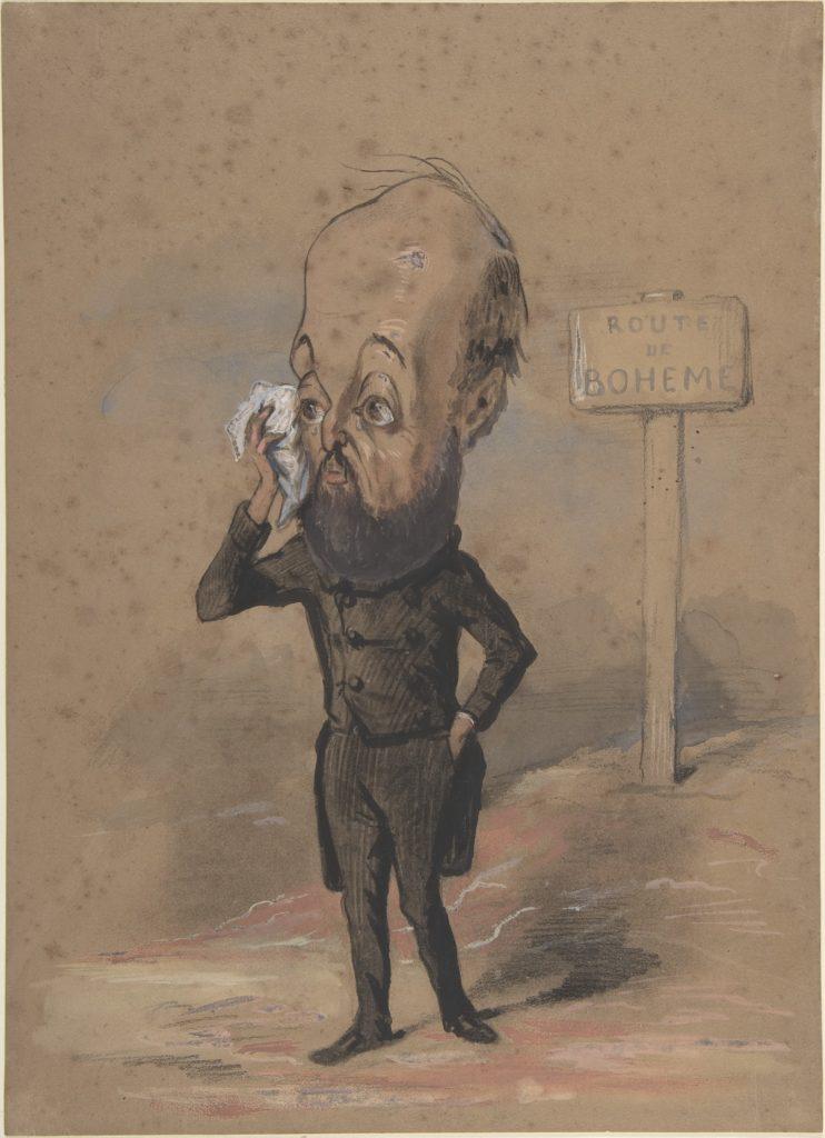 Caricature of Henri Mürger