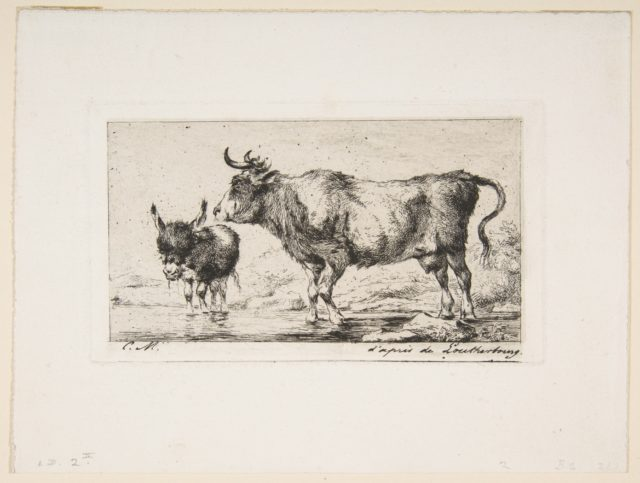 Cow and Ass, after de Loutherbourg
