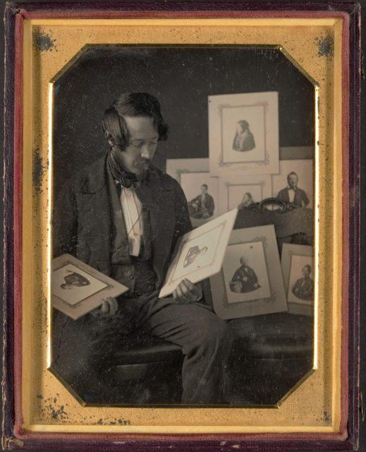 Frederick Langenheim Looking at Talbotypes