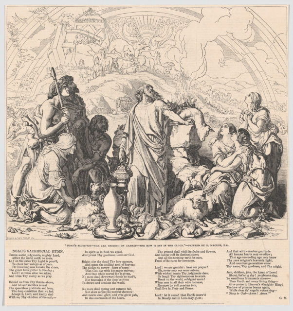 "Noah's Sacrifice, from the ""Illustrated London News"""
