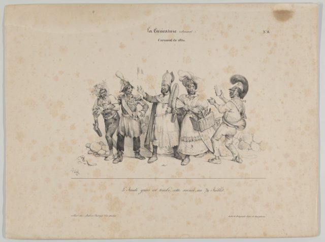 Carnival de 1830 (from La Caricature)