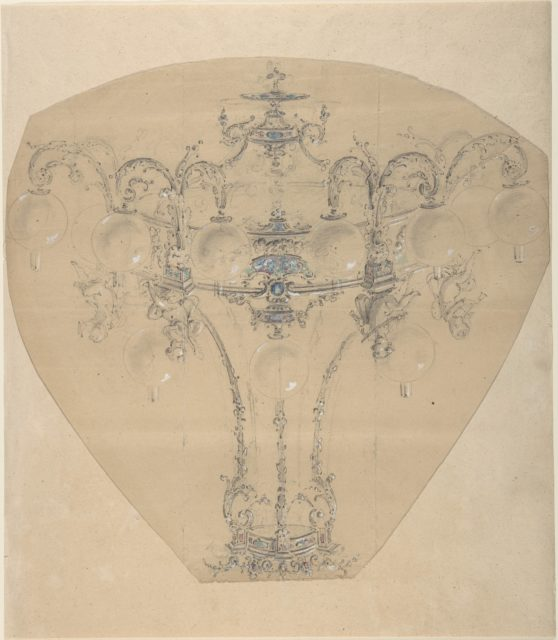 Design for a Gas Chandelier