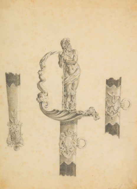 Design for a Naval Presentation Sword