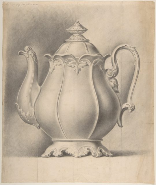Design for a Tea Pot Removed from the Factory Record Book