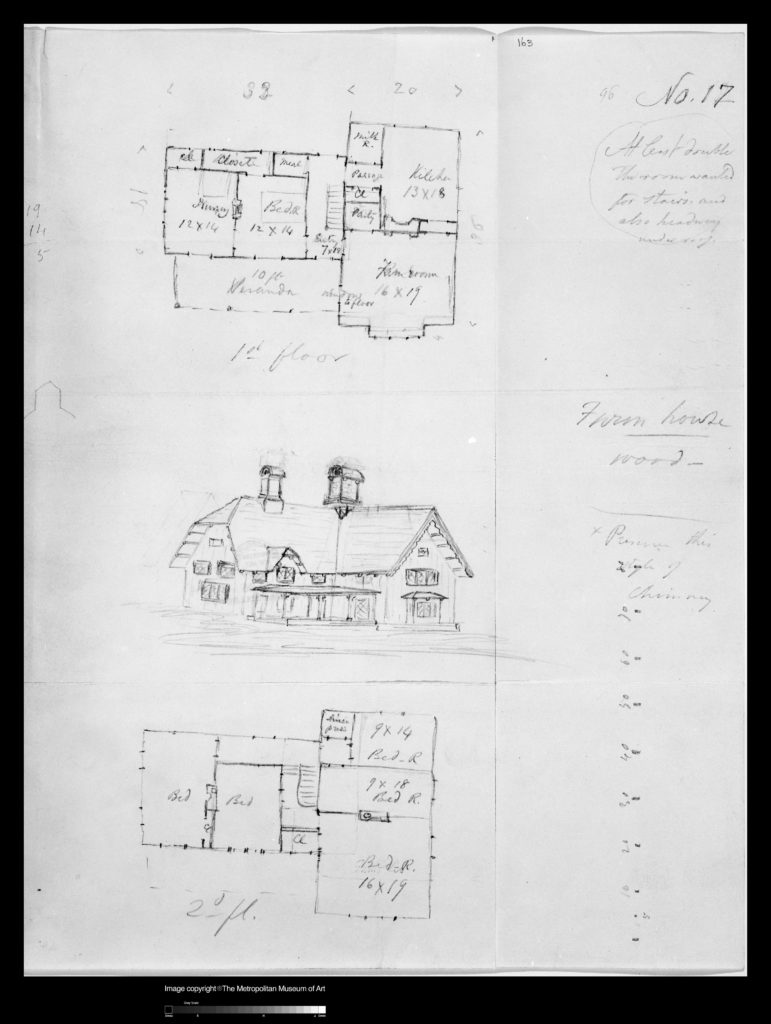 Design for Bracketed American Farm House, Design XVII from The Architecture of Country Houses