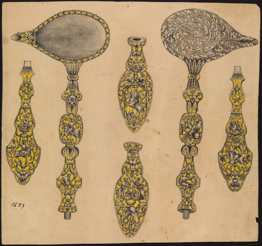 Design for the Decoration of Two Firearms Accessories, a Ladle and a Screwdriver