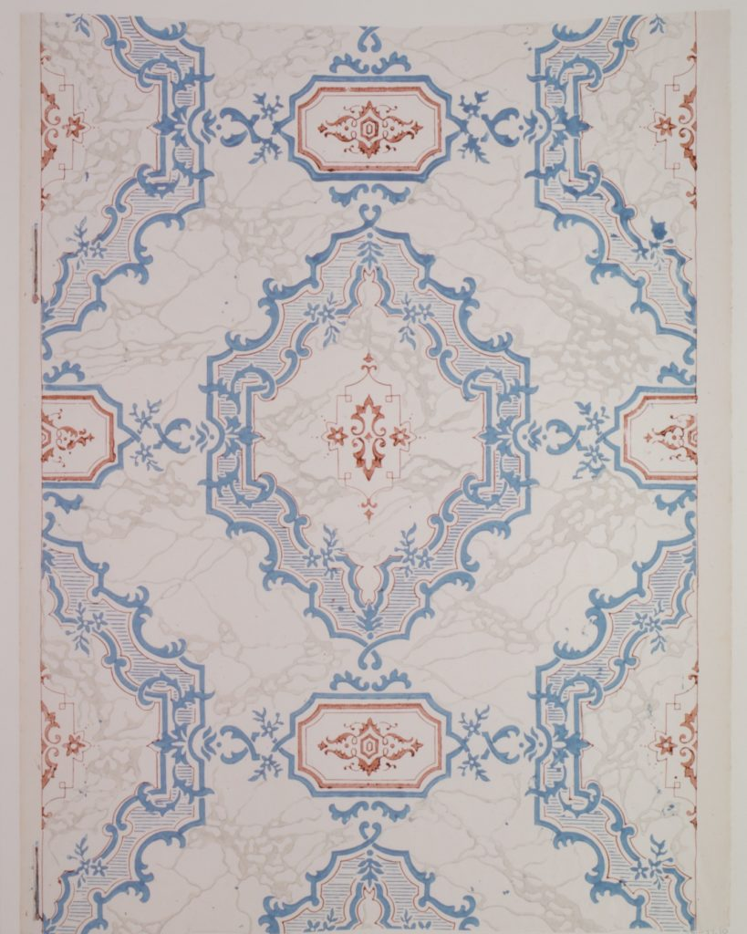 Entrance-hall Wallpaper from the Collins House