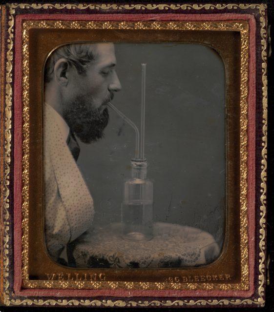 James Hyatt Inhaling Chlorine Gas