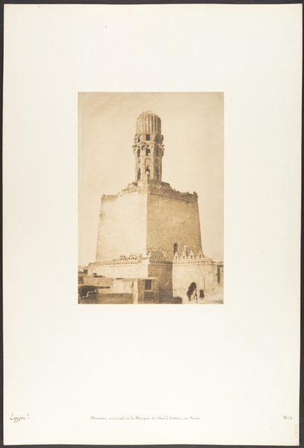 Minaret occidental de la Mosqée du Khalif Hakem, au Kaire