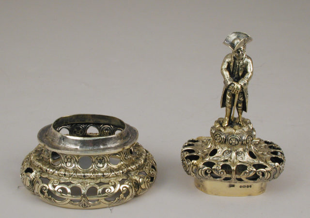 Vase mounts (one of a pair)