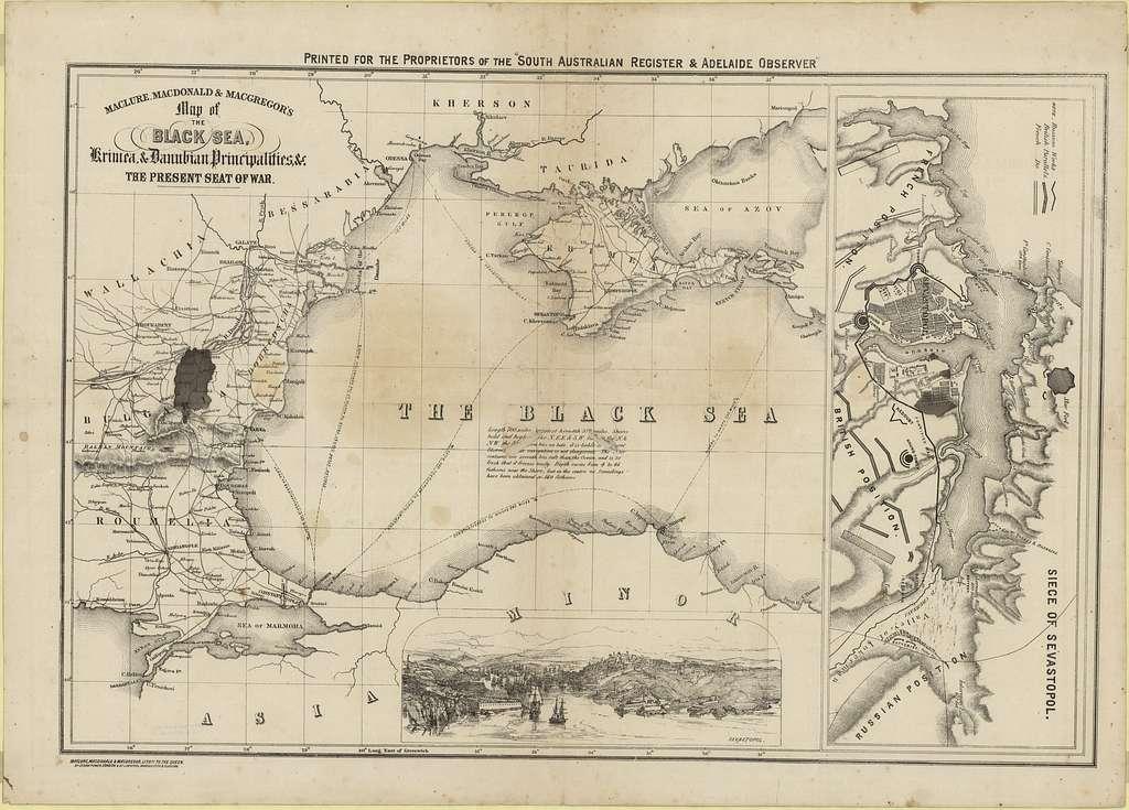 Maclure, Macdonald & Macgregor's map of the Black Sea, Krimea, & Danubian principalities, &c