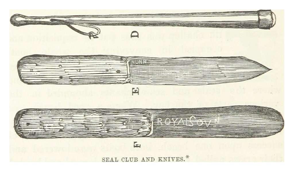 NUNN(1850) p052 SEAL CLUB AND KNIVES