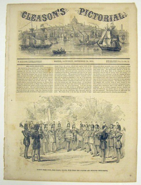 Boston Brass Band newspaper illustration