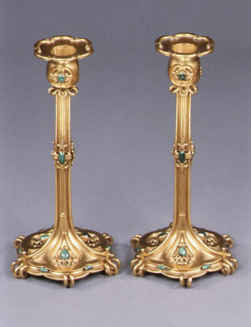 Pair of large candlesticks (part of a set)