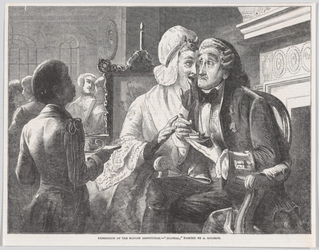 "Scandal, from the ""Illustrated London News"""