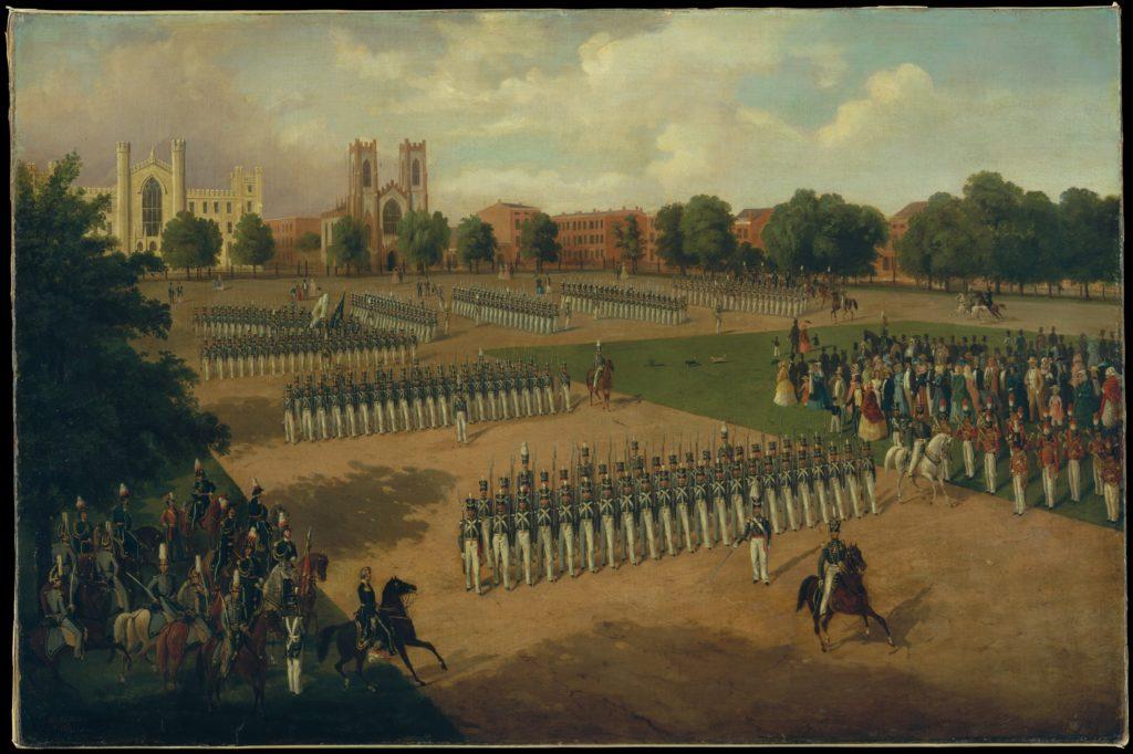 Seventh Regiment on Review, Washington Square, New York