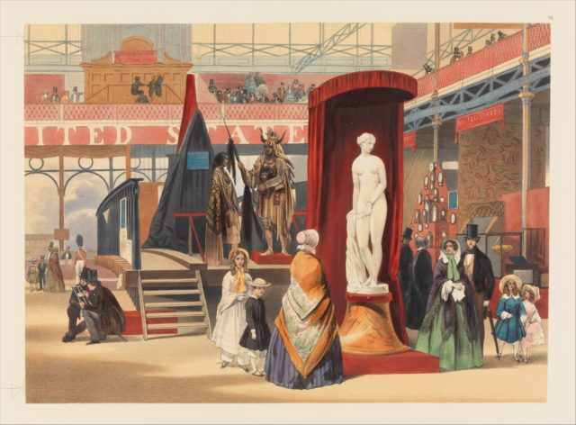 View in the East Nave (The Greek Slave, by Power [sic]; from Recollections of the Great Exhibition)
