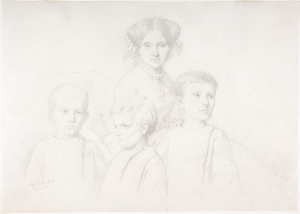 Portrait of Woman and Three Children