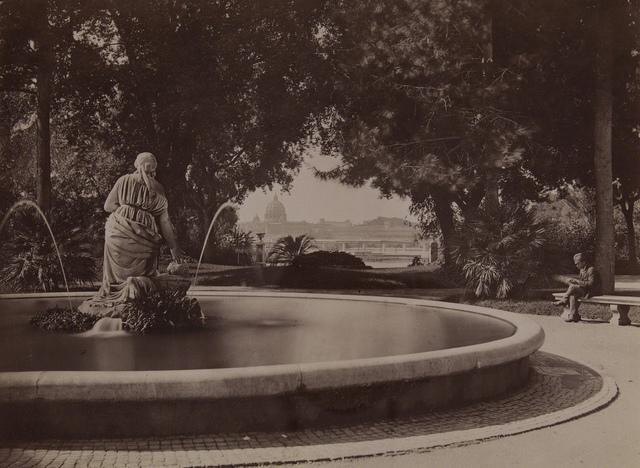 15221. Roma - Pubblico Passeggio del Pincio, Fontana del Mosè
