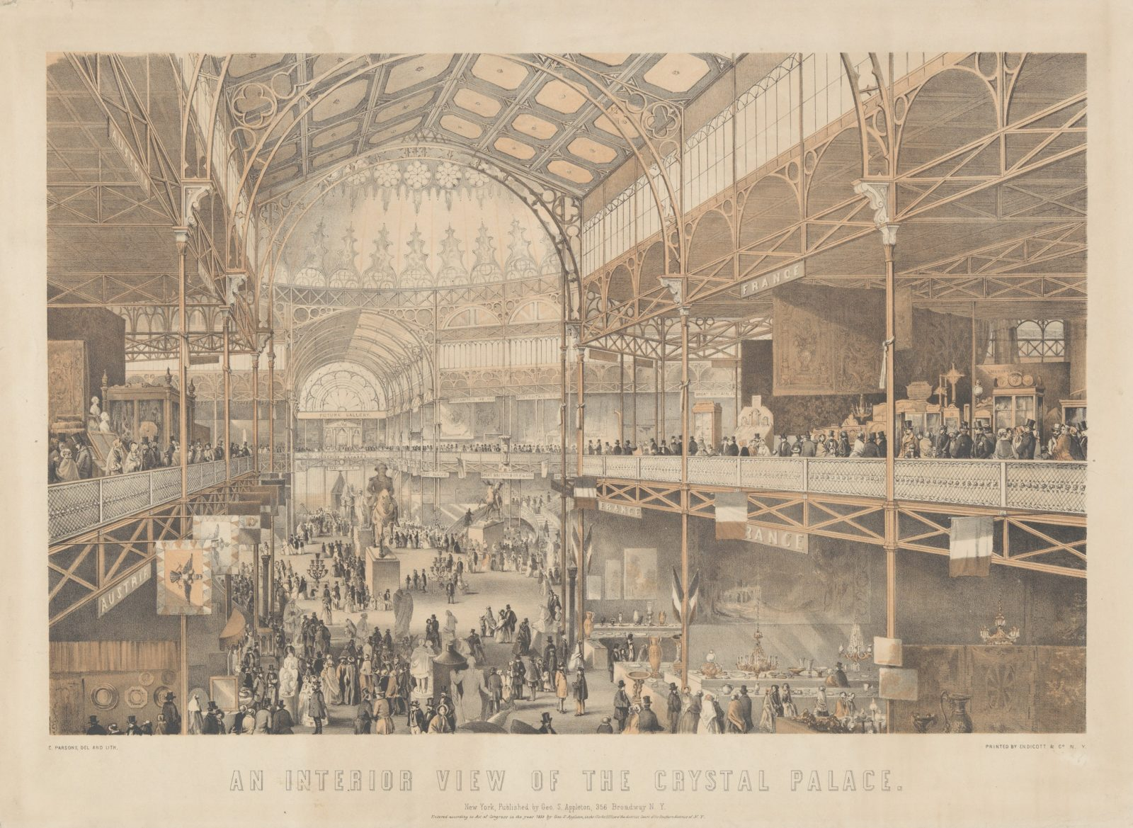 An Interior View of the New York Crystal Palace