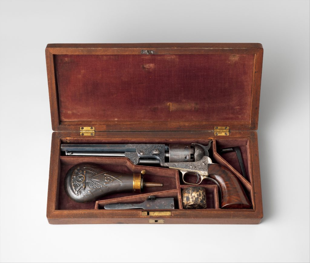 Colt Model 1851 Navy Percussion Revolver, Serial Number 29705, with Case and Accessories