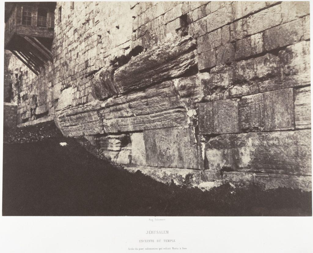 Jérusalem, Enceinte du Temple, Arche du Pont Salomonien qui reliait Moria à Sion