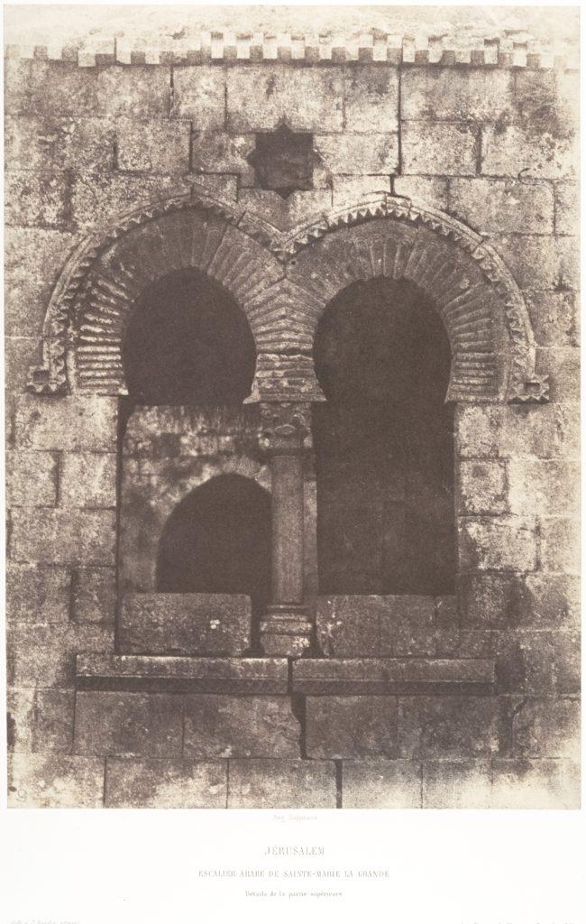 Jérusalem, Escalier arabe de Sainte-Marie-la-Grande, Détails de la partie supérieure