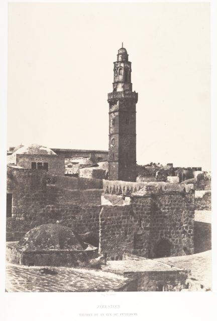 Jérusalem, Minaret de la Rue du Patriarche