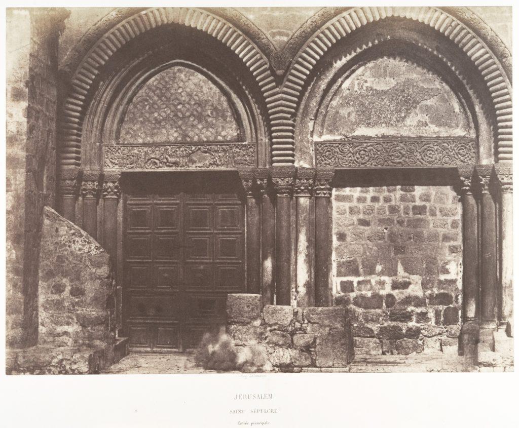 Jérusalem, Saint-Sépulcre, Entrée principale