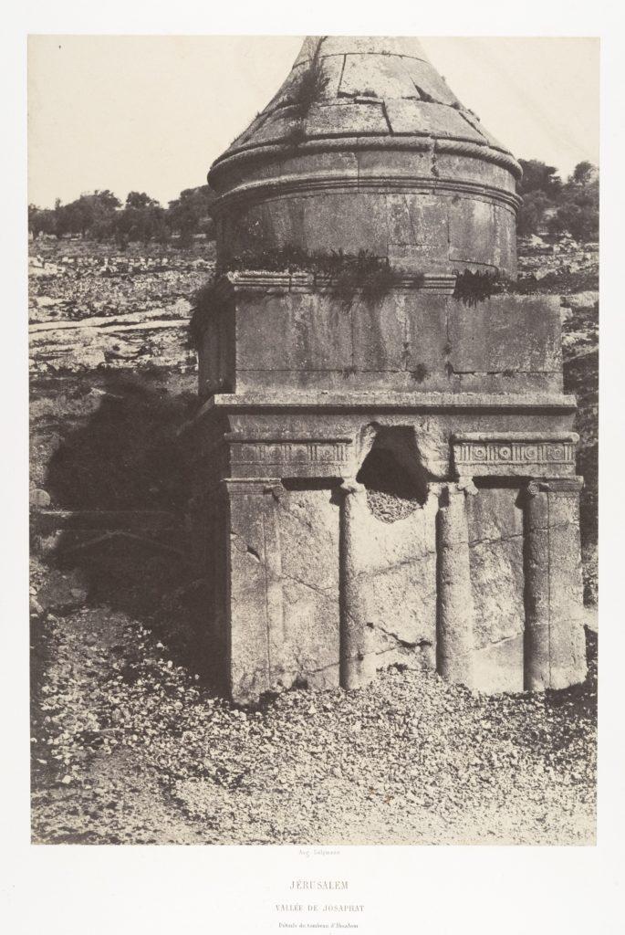 Jérusalem, Vallée de Josaphat, Détails du Tombeau d'Absalom