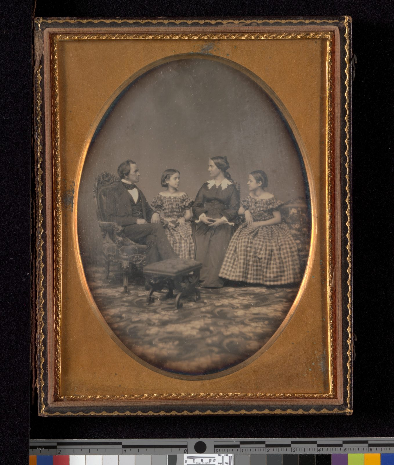 [Self-Portrait with Wife and Two Daughters]
