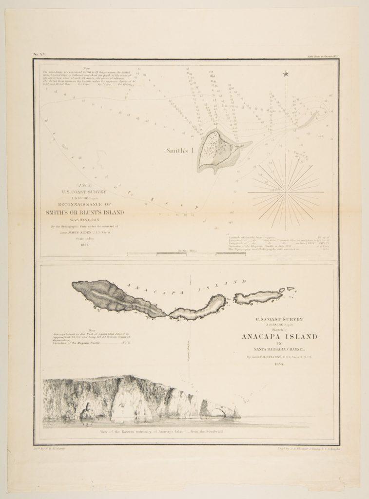 U.S. Coast Survey...Reconnaissance of Smith's or Blunt's Island, Washington / U.S. Coast Survey...Sketch of Anacapa Island in Santa Barbara Channel