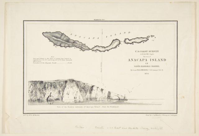 U.S. Coast Survey...Sketch of Anapaca Island in Santa Barbara Channel