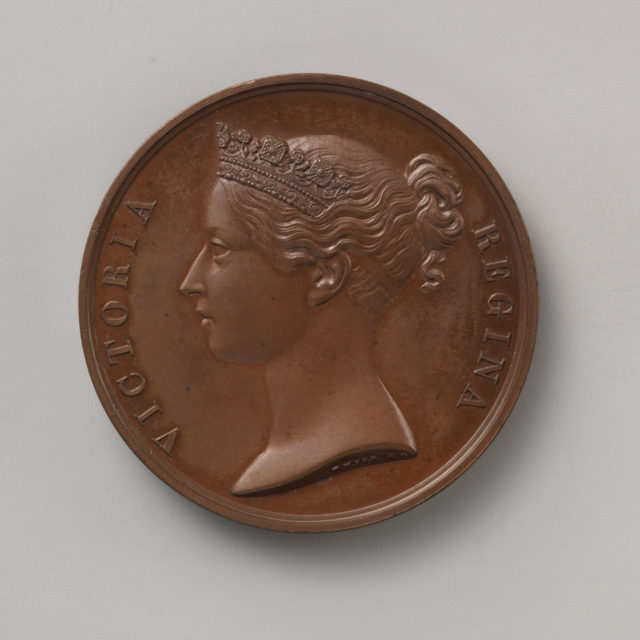 For Conspicuous Gallantry, granted by Queen Victoria, 1855