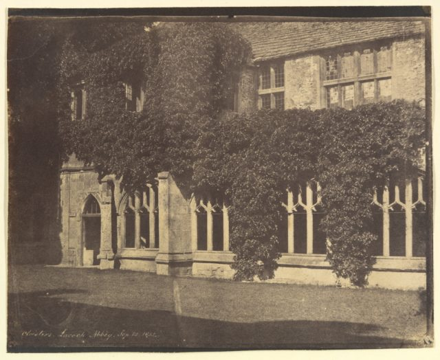 Lacock Abbey, Cloisters, September 12, 1855 [?]