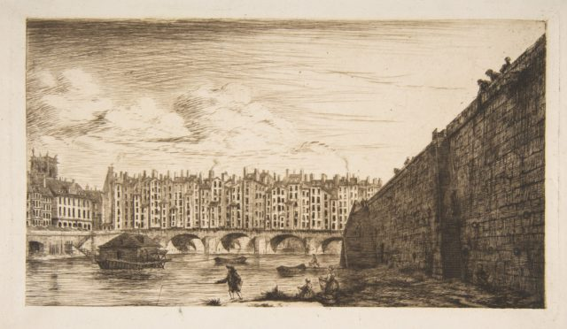 Le Pont-au-Change, vers 1784 (Pont-au-Change, Paris, circa 1784, after Nicolle)