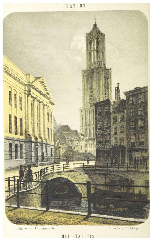 AA(1855) p128 UTRECHT, Stadhuis